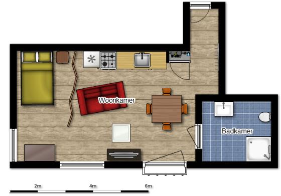 distribuição de móveis na decoração