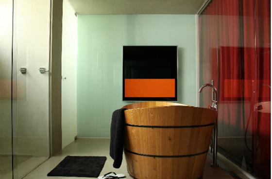 Banheiro masculino e sofisticado em casa de homem solteiro
