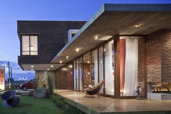 Concreto aparente casa da idea for Modern house veranda designs