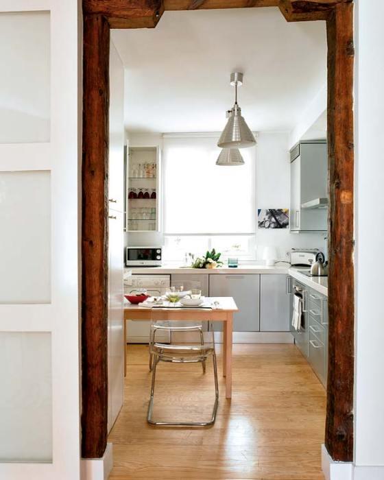 fogão e forno foram embutidos para aproveitar melhor espaço da cozinha