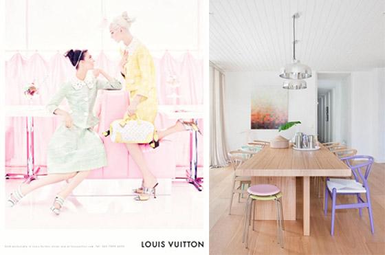 decoração com cores suaves