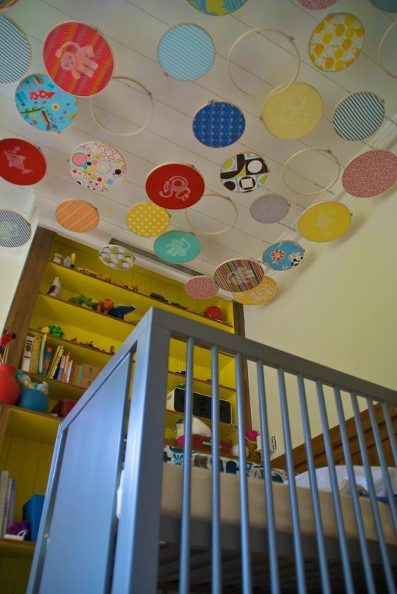 teto decorado quarto de bebê