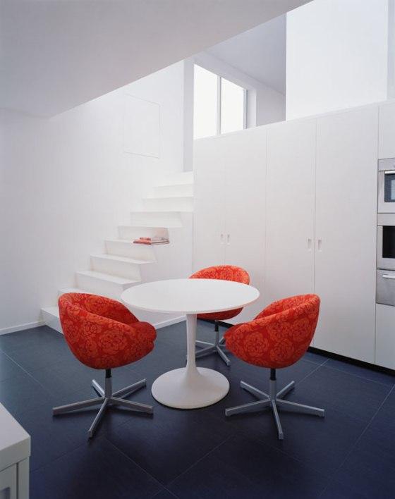 mesa redonda na cozinha