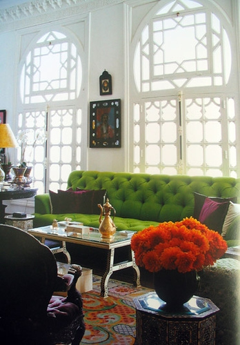 decoração colorida na sala