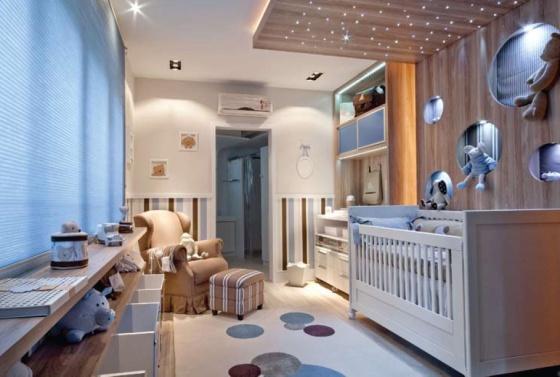 decoracao quarto bebe com fibra otica