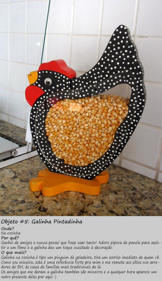 galinha para guardar milho de pipoca
