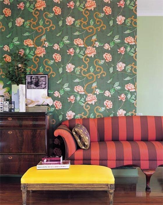 Como decorar a casa na primavera, estampas de flores, papel de parede de flores, mistura de estampas na decoração