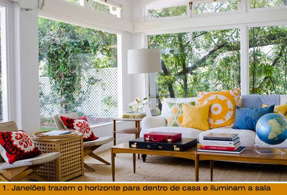 sala com janelões